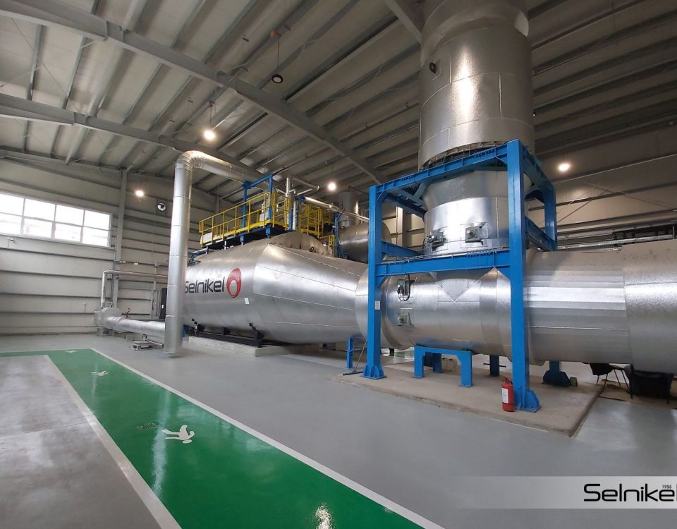 Alev - Duman Borulu atık ısı kazanı ihracatı